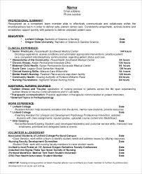 Nursing Resume Template Adorable 60 Nurse Resume Templates PDF DOC Free Premium Templates