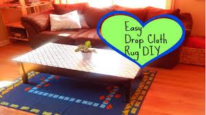 Fabric Rug Diy Easy Drop Cloth Rug Diy Minimalist Home Decor Ideas Youtube