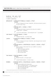Herbalife Meal Plans Herbalife Weight Loss Challenge Manual
