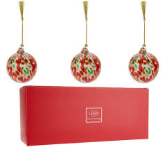 Lenox S/3 Hand Blown Art Glass Ornaments with Gift Boxes - Page 1  QVC.com
