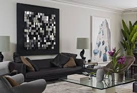 modern wall decor for living room round coffee table white minimalist sofa sets natural brick stone