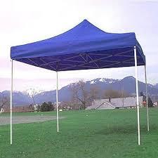 blue plain outdoor pop up canopy