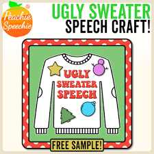 Speech Sample Awesome Ugly Sweater Speech Craft Free Sample RBlends By Peachie Speechie