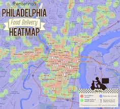 map philadelphia's not a bad place to get food delivered