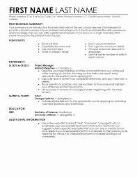 First Job Resume Templates Entry Level Job Resume Template Luxury Entry Level Resume