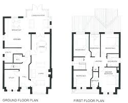 Decoration: Image Of 4 Bedroom 3 Bath House Plans With Basement Ceiling 2  Story Apartment