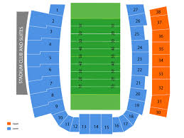 Toledo Rockets Glass Bowl Seating Chart Right University Of Toledo Stadium Seating Chart Glass Bowl