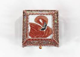 New World Designs Amazon Com Flamingo Hand Painted Stained Glass Box
