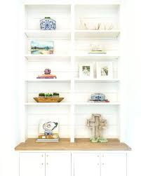 Lucite Floating Shelves Fascinating Lucite Floating Shelves Built In Styling Ideas Living Room White