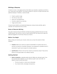 Writing A Resume University Of Missouri Pages 1 4 Text