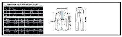 dress size chart mens paul jones mens slim fit 1 button 3 piece dress suit blazer coat tux vest pants