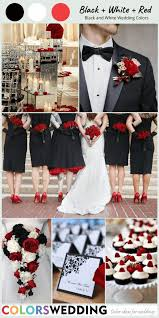 perfect 8 black and white wedding color