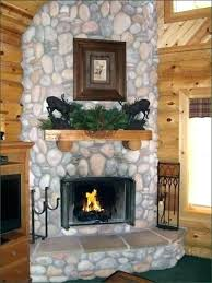 river rock fireplace rock fireplaces inspiration install river rock fireplace surround river rock fireplace
