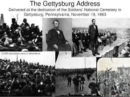 「1863, linchahn address at gettysburg」の画像検索結果