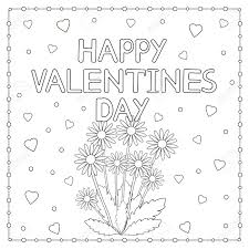 You can print or color them online at 1024x728 heart coloring pages free unsurpassed cute coloring pages for your. Happy Valentine Day Card With Flowers And Hearts Coloring Page Vector Illustration Pages Of For Him To My Boyfriend Husband I Love You Funny Oguchionyewu