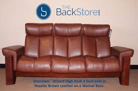 High Back Sofas stressless wizard 3 seat high back sofa royalin brown color 1456 by guidejewelry.us