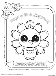 Picture Thanksgiving Printable Turkey 28 Coloring Page Draw So Cute