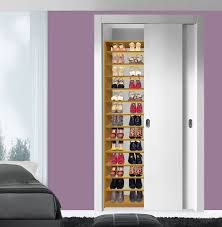 shoe shelves inside closet