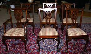 chippendale dining room chairs dining room furniture set of six period solid gany dining room chairs