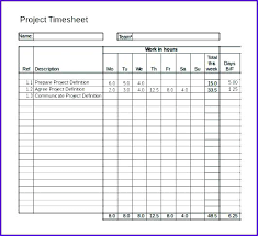 Timesheet Formulas In Excel Project Timesheet Template Excel Template With Formulas Excel