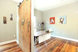 contemporary home office sliding barn. Design Ideas: Wood From Old Barn Used To Create Accent Wall In The Home Office Contemporary Sliding