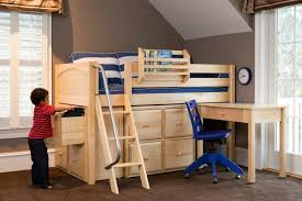 bunk beds for low ceilings. Delighful Low NaturalStorageLowLoftwithDesk Throughout Bunk Beds For Low Ceilings B