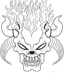 Skull Colouring In Pages Great Sugar Skull Coloring Pages Free Sugar