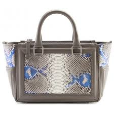 aleksandra badura ladylike bag calfskin python top handle tote bag grey iris luxury high quality leather bag avvenice