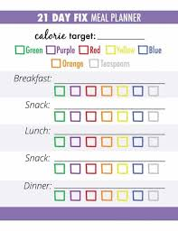 21 Day Fix Meal Plan How To Use The Containers Free