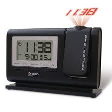 classic projection alarm clock black