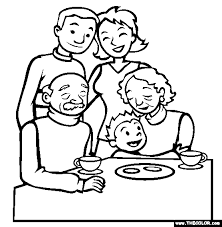 Family Members Colour Ideal Coloring Pages Of A Family Coloring