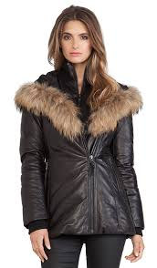 mackage ingrid jacket with natural asiatic rac fur black women mackage down coat