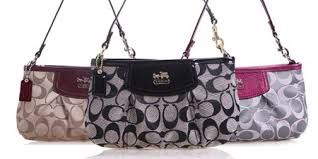 Coach F46638 Madison Op Art Sateen Large Wristlet - Includes Delivery
