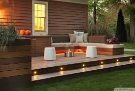 modern deck with led stair lights bestpickr com deck patio lighting design ideas