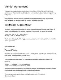 Permalink to Vendor Agreement Format In Word – 50 Professional Service Agreement Templates Contracts / This vendor agreement could be use in a case where a company/firm/entity wants a vendor to sell such company's/firm's/entity's goods.