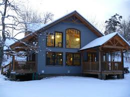 Timber Frame Homes in the Winter   Timber Frame Magazine