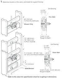 standard height for shower valve standard tub depth shower valve rough in height standard within tub