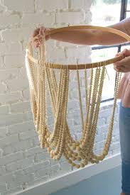 diy bead chandelier