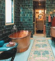 copper bathroom. 33 Modern Interior Design And Decorating Ideas Bringing Soft Glow Of Copper Accents Into Homes Bathroom M