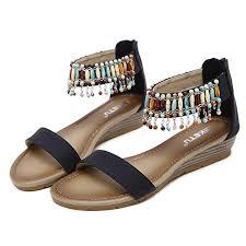 Romans Clothing Size Chart Amazon Com Women Beads Sandals Ndgda Bohemian Casual Roman
