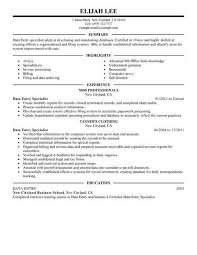 Data Entry Unique Data Entry Sample Resume Free Career Resume Template