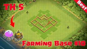Town Hall 4 Base Design Clash Of Clans Town Hall 5 Best Defense Coc Th 5 Farming