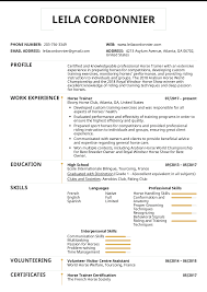 Preparing A Resume Resume Examples By Real People Horse Trainer Resume Sample