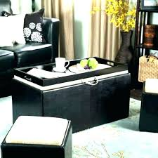 dark espresso coffee table black leather fancy large ottoman furniture of america architectural inspired