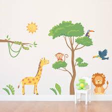 jungle safari printed wall decal