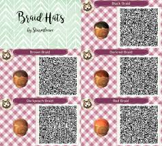 Animal Crossing New Leaf Qr Code Cute Braided Hair Braid Hat Fashion