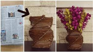 News Paper Flower Vase How To Make A Flower Vase With Newspaper Videos Infinitube