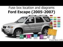 Fuse box location and diagrams: Ford Escape (2005-2007) - YouTube