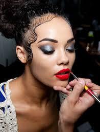 breianna neeser top makeup artist fashion show bts