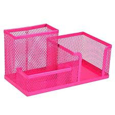 girly office supplies. Interesting Girly Homecube Space Saving Mesh Office Supplies Desk Organizers Pen Holder 3  Sorter Sections Hot Pink Throughout Girly L